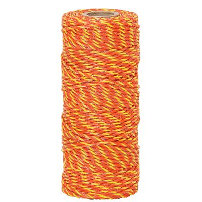 Polywire for electric fence, diameter 2.5 mm, yellow-orange
